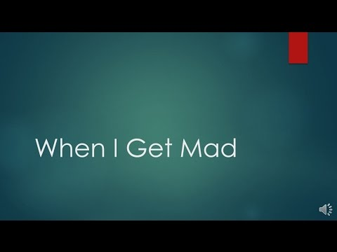When I Get Mad Social Story