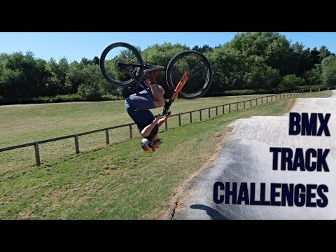 BMX TRACK CHALLENGES *FENCE JUMP*
