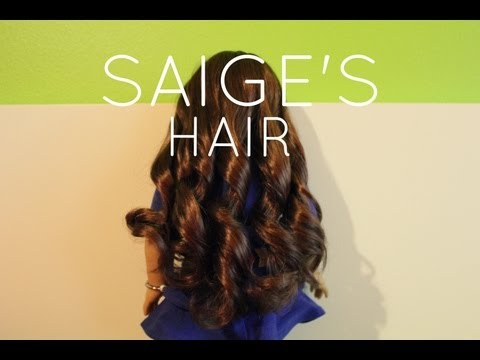 How to care for Saige's hair!