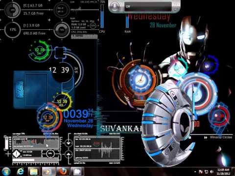 Iron Man & Alienware mix theme for windows 7