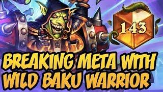 Breaking Meta With Wild Baku Warrior | Rastakhan's Rumble | Hearthstone