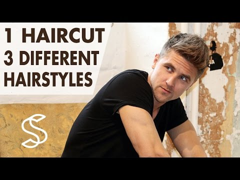3 Hairstyles in 1 Haircut - Men's short hair - Professional hair inspiration