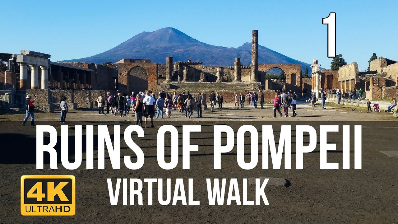 Pompeii Walking Tour in 4K Part 1