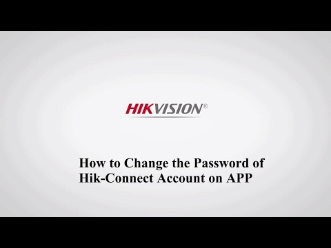 How to change the password of Hik-Connect account on APP