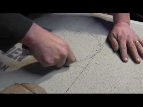 How To Install Cement Board on the Floor- measuring and cutting tips