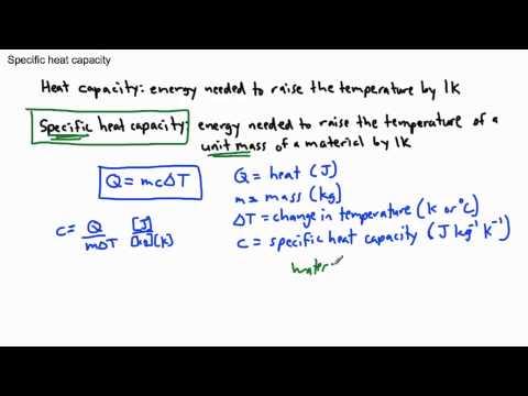 Thermal Physics - Specific heat capacity (1/2) - (IB Physics, GCSE, A level, AP)