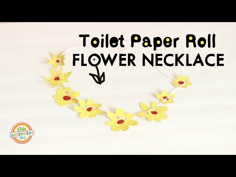 Toilet Paper Roll Flower Necklace