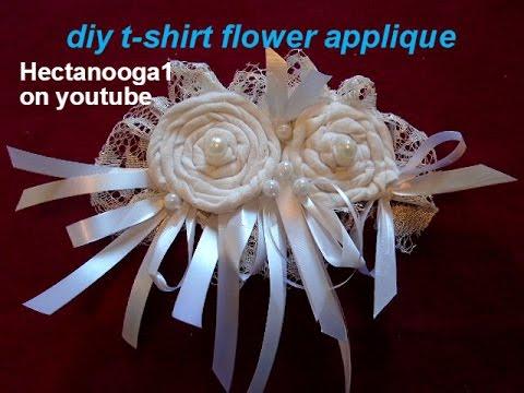 Fabric Flowers -  T-SHIRT FLOWER APPLIQUE, Bridal, Prom, Home Decor, Headbands, brooches,