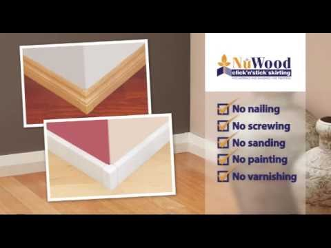 NuWood click'n'stick skirting