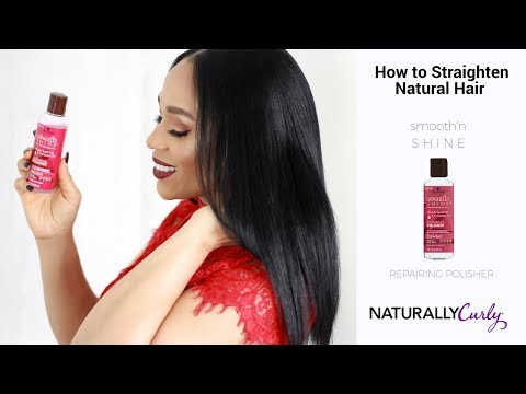 How To Straighten Natural Hair with Smooth'n Shine Repairing Polisher Tia Kirby