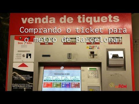 Como comprar o ticket para o metro de Barcelona