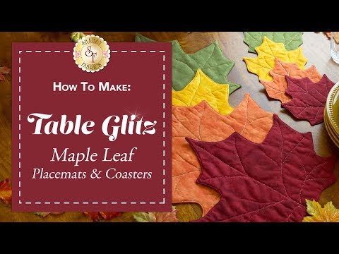 How to Make Maple Leaf Placemats & Coasters | a Shabby Fabrics Sewing Tutorial