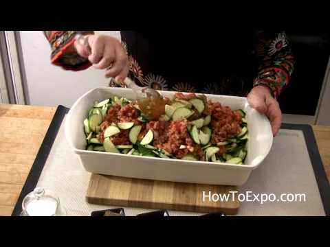TAWA - Zucchini with Ground Beef in Oven - Quick Easy Mediteranean Recipe