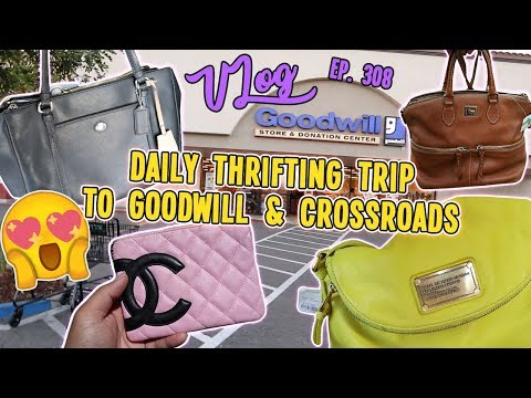 DAILY THRIFTING TRIP TO GOODWILL & CROSSROADS   VLOG EP. 308