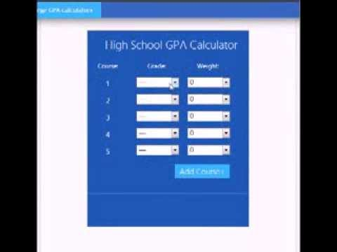 GPA calculator - High School GPA calculator