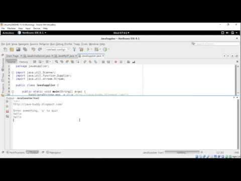 Java example using Supplier to get input from Scanner