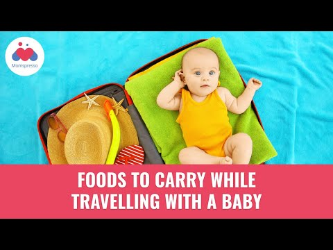 5 Foods to carry while travelling with a Baby