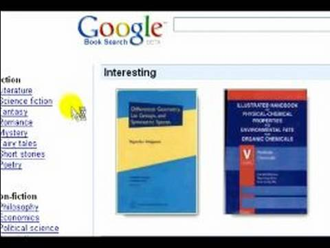 How to Use the Google Search Engine : How to Search for Book Text with Google