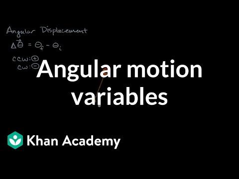 Angular motion variables | Moments, torque, and angular momentum | Physics | Khan Academy