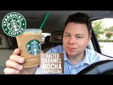 STARBUCKS SALTED CARAMEL MOCHA FRAPPUCCINO DRINK REVIEW