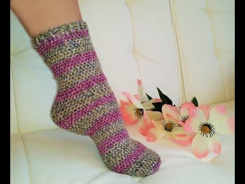 Glama's Easiest His & Hers Crochet TUBE SOCKS Everrrr!