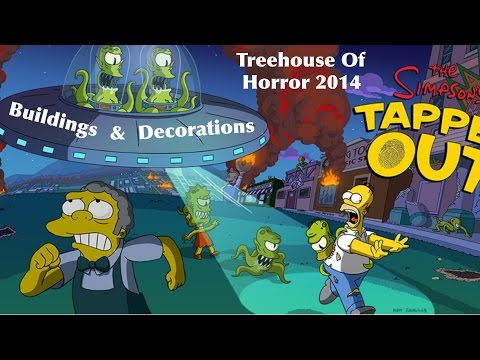 TSTO: Treehouse of Horror 2014: Buildings + Decorations