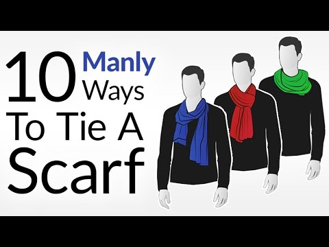 How To Tie 10 Scarf Knots For Men | Men's Scarves Tying Tutorial | Wear Scarfs Video