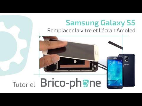 Tuto : Samsung Galaxy S5 changer la vitre et l'écran Amoled (démontage + remontage)
