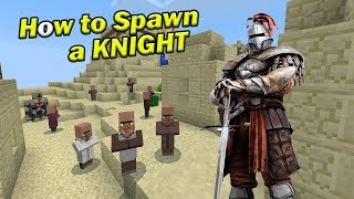 How to Spawn a KNIGHT | Minecraft PE