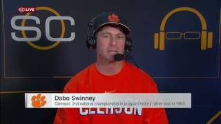 Championship a special moment for Swinney, Clemson