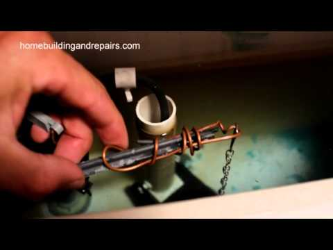 How To Repair A Broken Toilet Lever Arm Using Wire – Bathroom Repairs