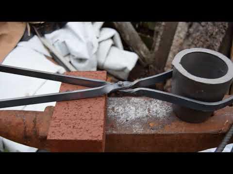 Home made crucible tongs