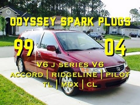 Honda Odyssey Spark Plugs Replacement - J Series V6 - Change - CL TL MDX Accord Ridgeline Pilot