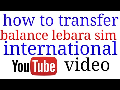 How to transfer balance lebara Saudi to india international mobile recharge