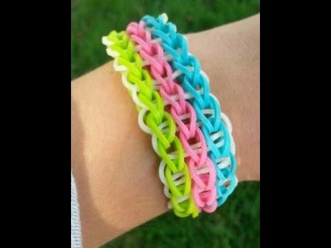 HOW TO MAKE A TRIPLE SINGLE RAINBOW LOOM
