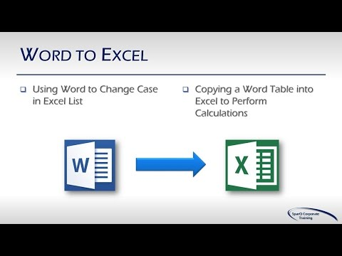 Office Integration -  Part 3a of 10 Parts - Word to Excel