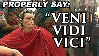 """Veni Vidi Vici"" How did Julius Caesar really say it?"