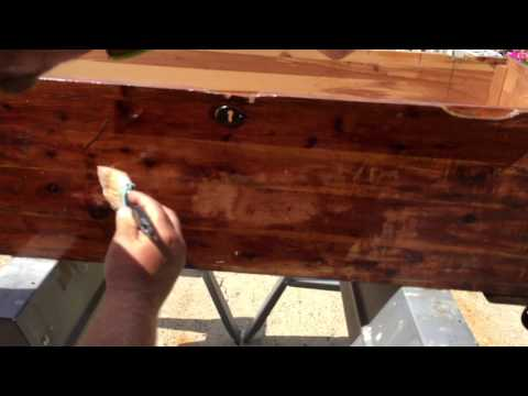 Stripping off finish on cedar chest project