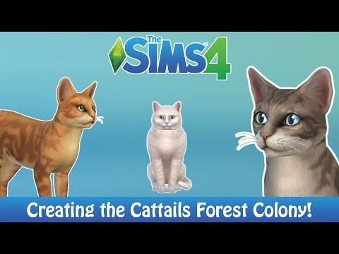 THE SIMS 4 CATS & DOGS | CREATING THE CATTAILS FOREST COLONY!