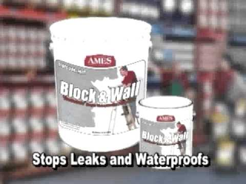 Ames'® Block Wall™ Liquid Rubber Waterproof Coating for Basement Walls and Foundations