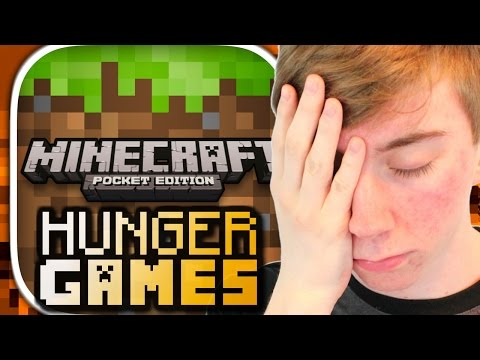 MINECRAFT: POCKET EDITION - HUNGER GAMES (iPhone Gameplay Video)