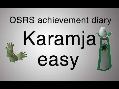 [OSRS] Karamja easy achievement diary guide
