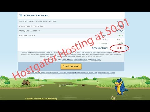 How to Buy Shared Hosting at $0.01 From Hostgator || Hostgator Hosting at $0.01 || Buy Cheap Hosting