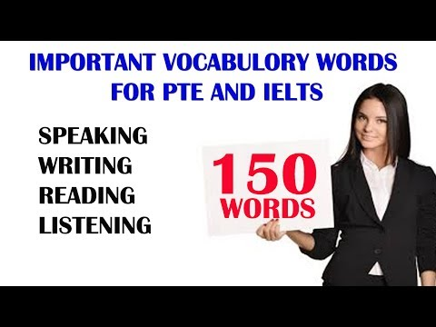 [ HIGHLY RECOMMENDED ]  VOCABULARY WORDS FOR PTE AND IELTS