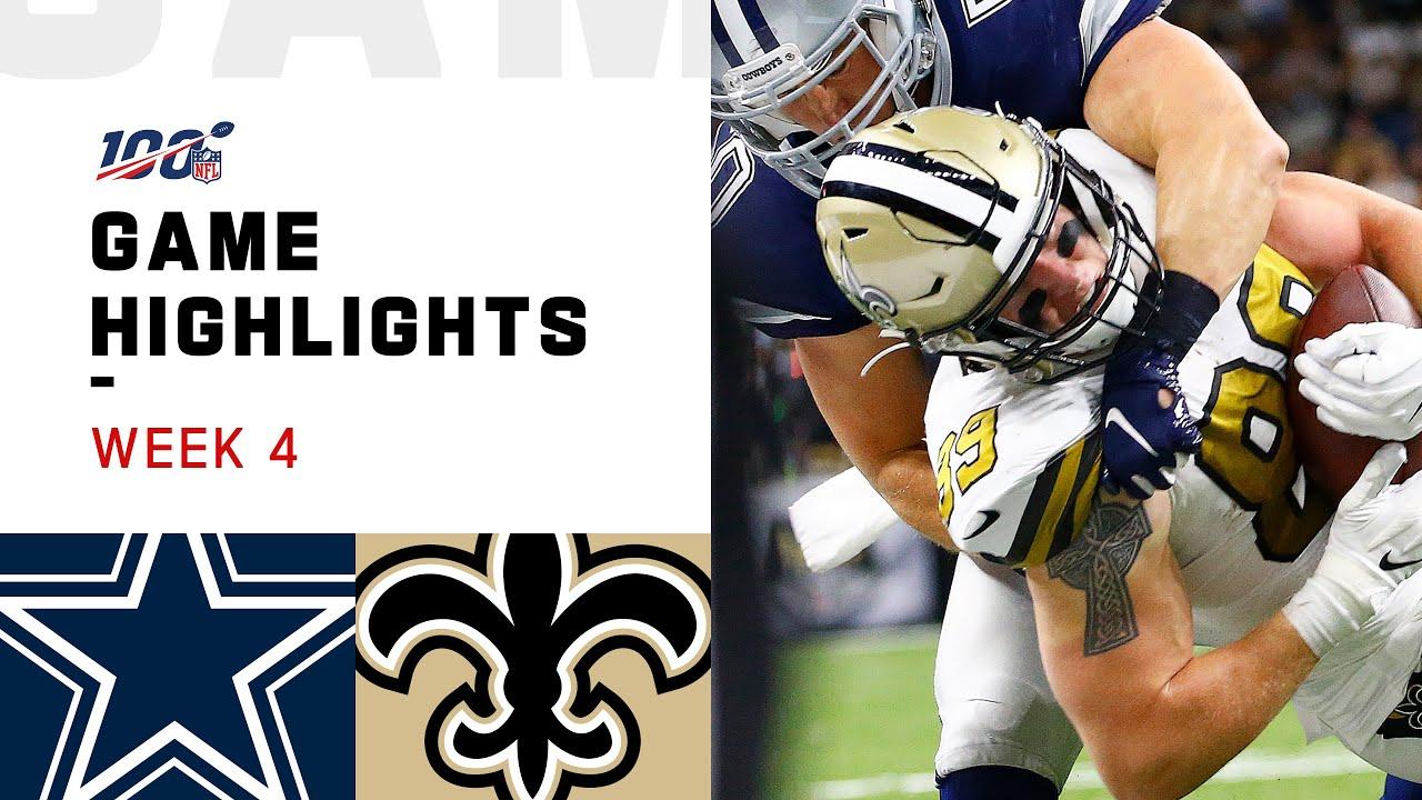 Cowboys vs. Saints Week 4 Highlights   NFL 2019