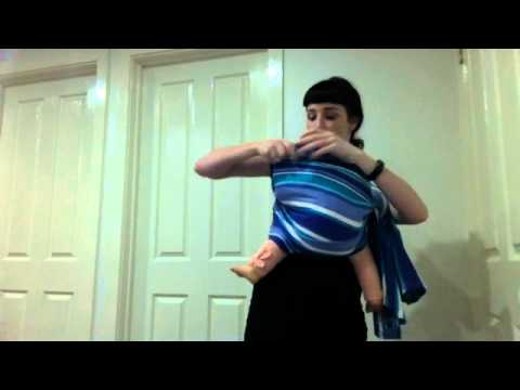 How to sling carry with a short wrap, rebozo, or half a woven tablecloth