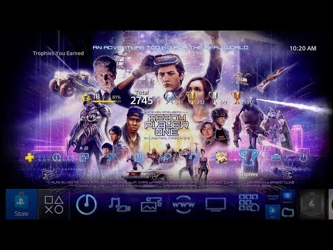 Ready Player One Dynamic Theme PS4