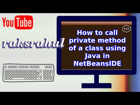 How to call private method of a class using Java in NetBeansIDE