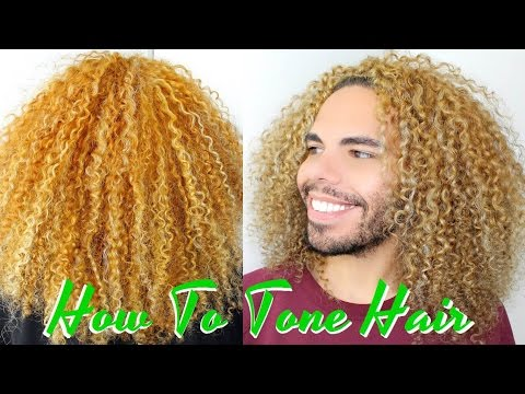 How To Tone And Get Rid Of Brassy Curly Hair / Remove Orange With Wella Color Fresh 8/81 Toner