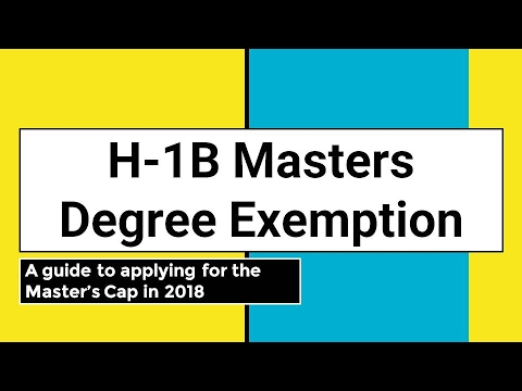 H-1B Masters Degree Exemption 2017-2018